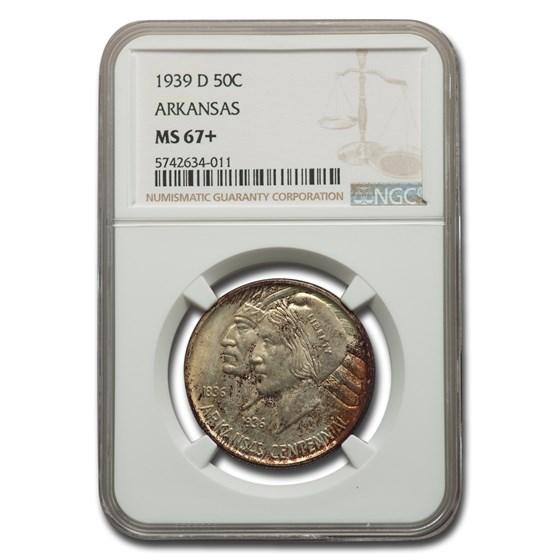1939-D Arkansas Centennial Commemorative Half Dollar MS-67+ NGC