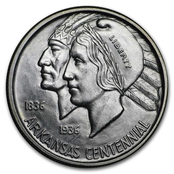 1939-D Arkansas Centennial Half Dollar Commemorative BU