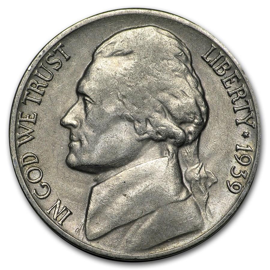1939-D Jefferson Nickel AU
