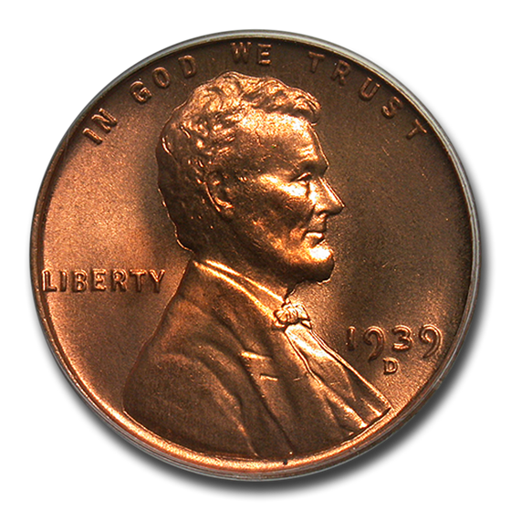 1939-D Lincoln Cent MS-67 PCGS (Red)