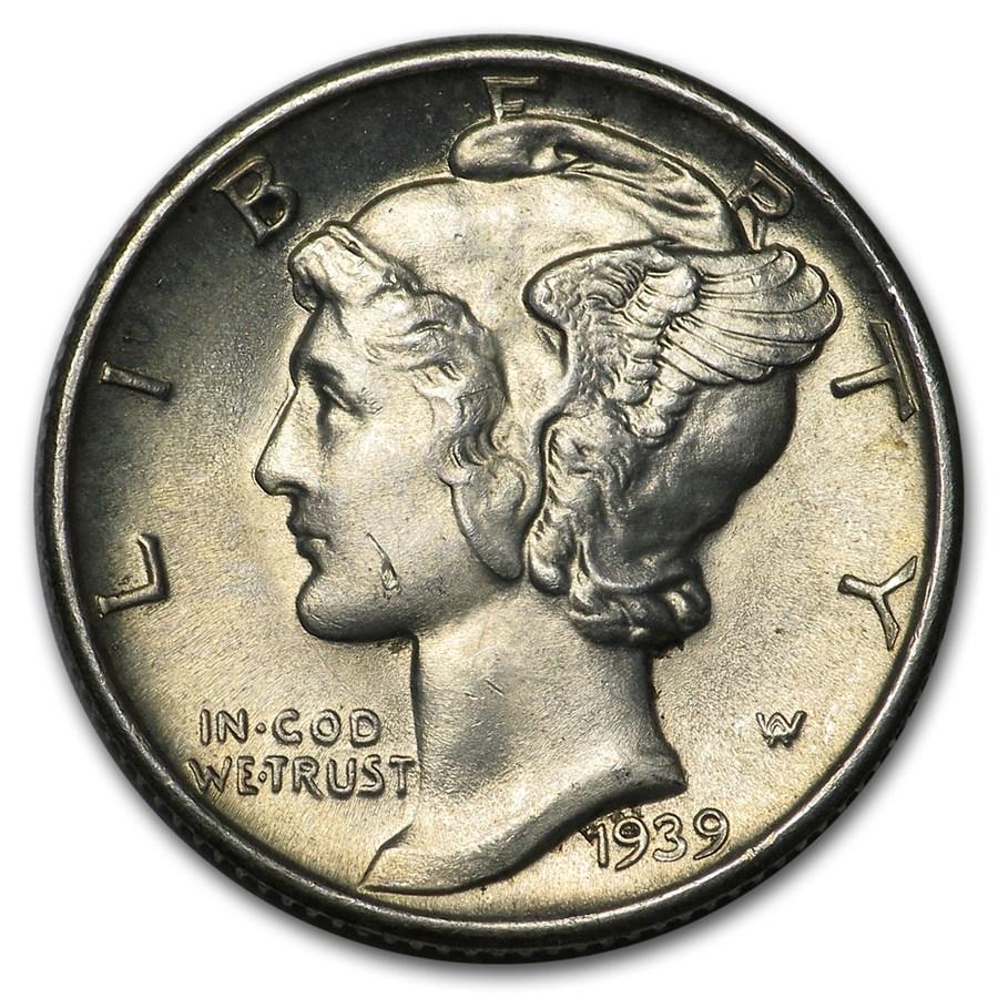 1939-D Mercury Dime BU