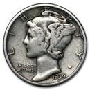1939-D Mercury Dime Fine/VF
