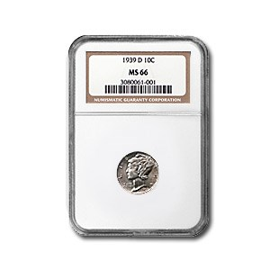 1939-D Mercury Dime MS-66 NGC