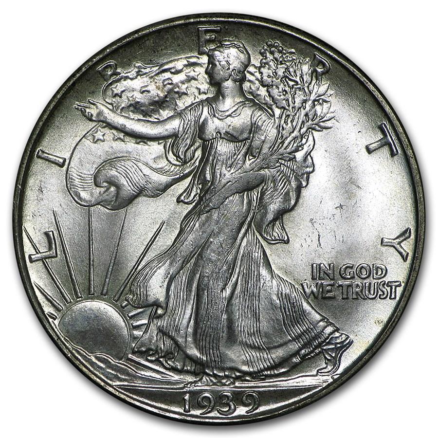 1939-D Walking Liberty Half Dollar BU