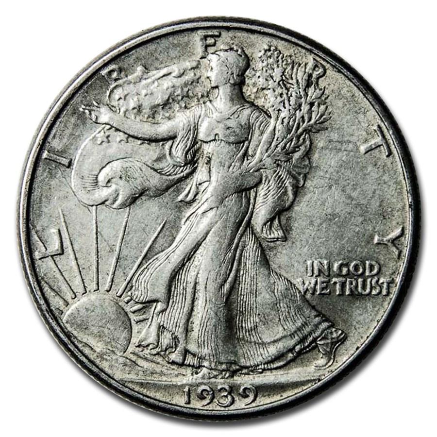 1939-D Walking Liberty Half Dollar XF