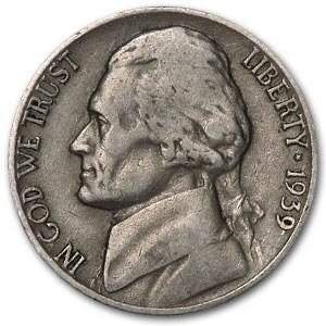 1939 Jefferson Nickel Avg Circ