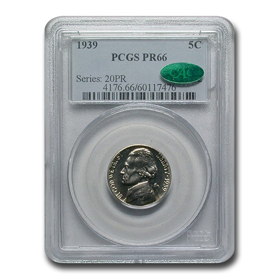 1939 Jefferson Nickel PR-66 PCGS CAC