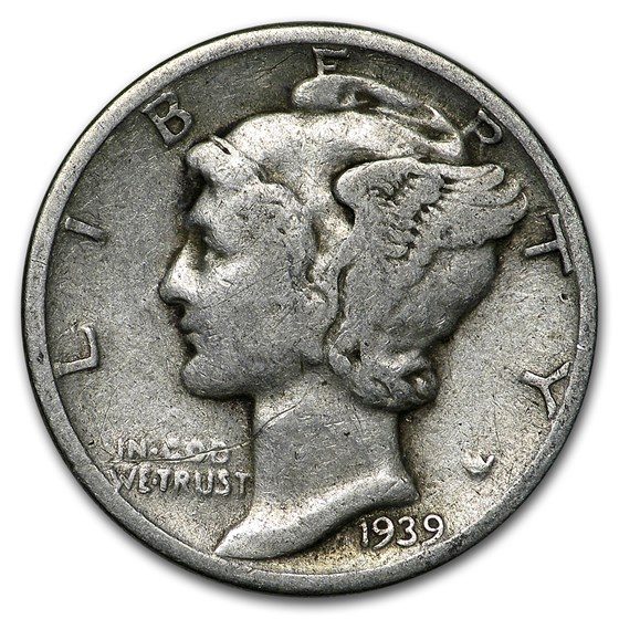 1939 Mercury Dime Good/VF