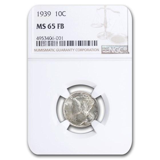 1939 Mercury Dime MS-65 NGC (FB)