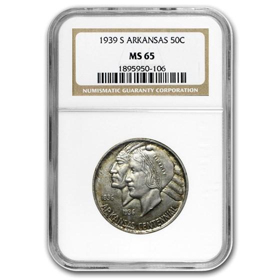 1939-S Arkansas Centennial Half Dollar MS-65 NGC