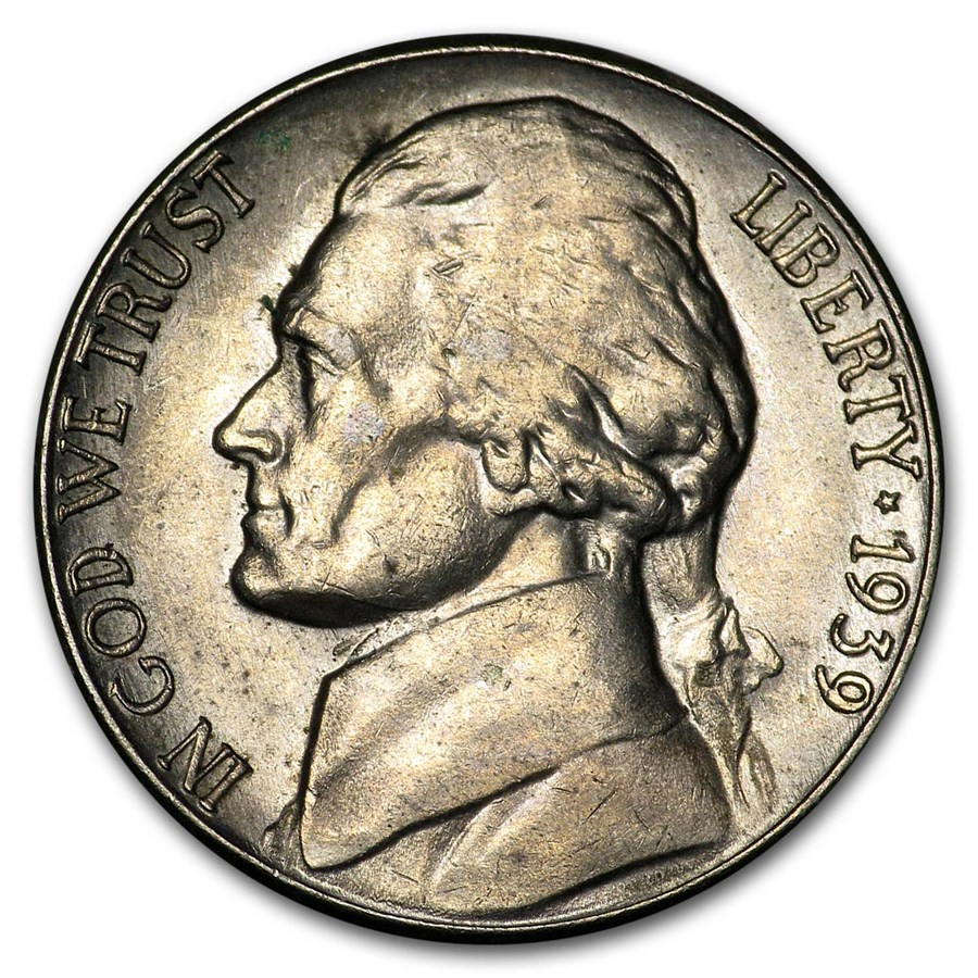 1939-S Jefferson Nickel AU
