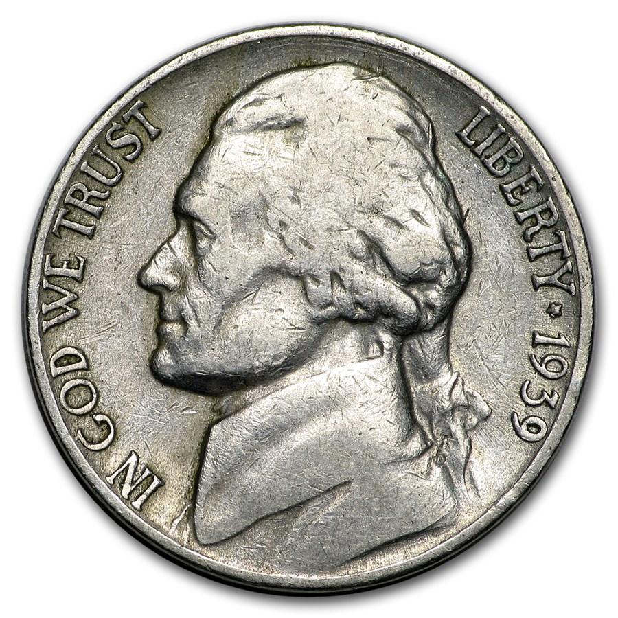 1939-S Jefferson Nickel Avg Circ