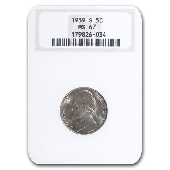 1939-S Jefferson Nickel MS-67 NGC