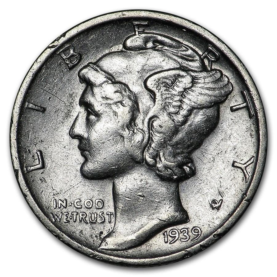 1939-S Mercury Dime AU