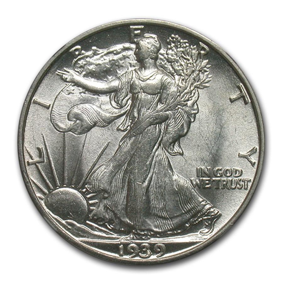 1939-S Walking Liberty Half Dollar AU-58 NGC