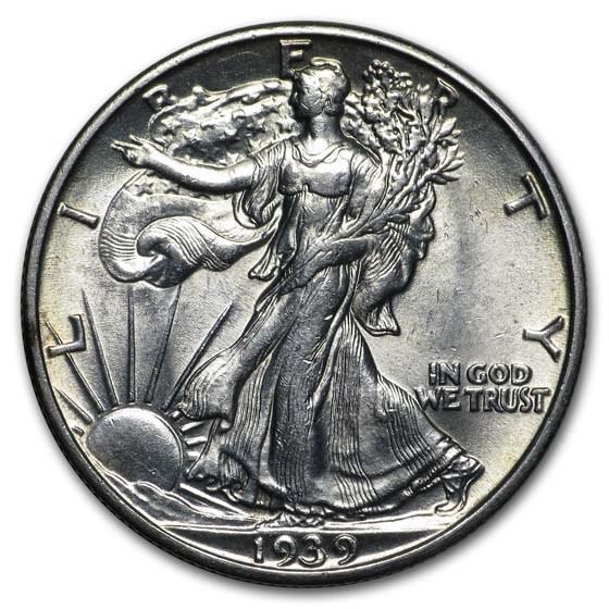 1939-S Walking Liberty Half Dollar BU
