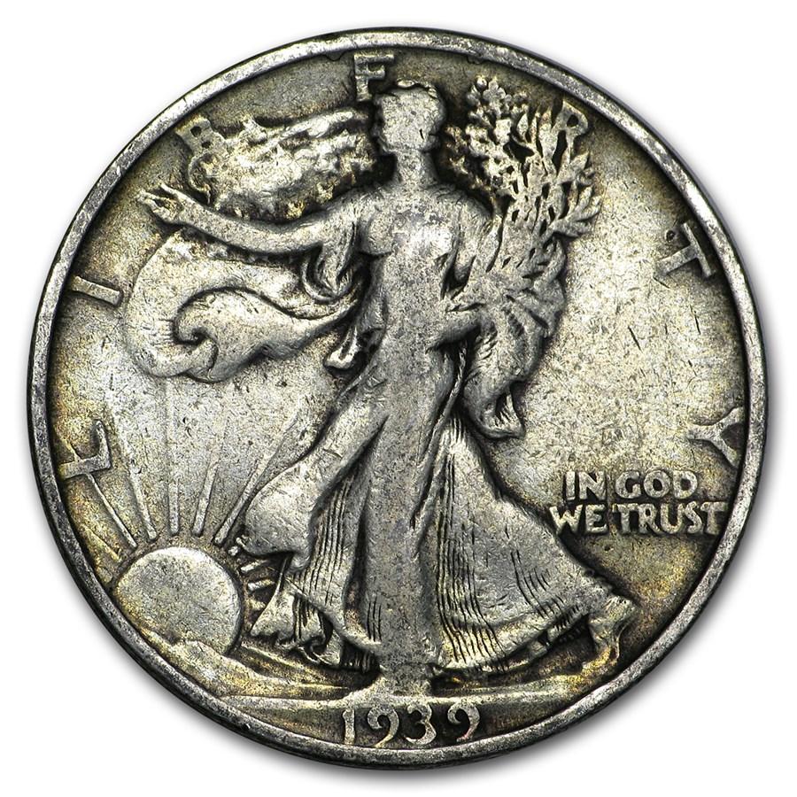 1939-S Walking Liberty Half Dollar VG/VF