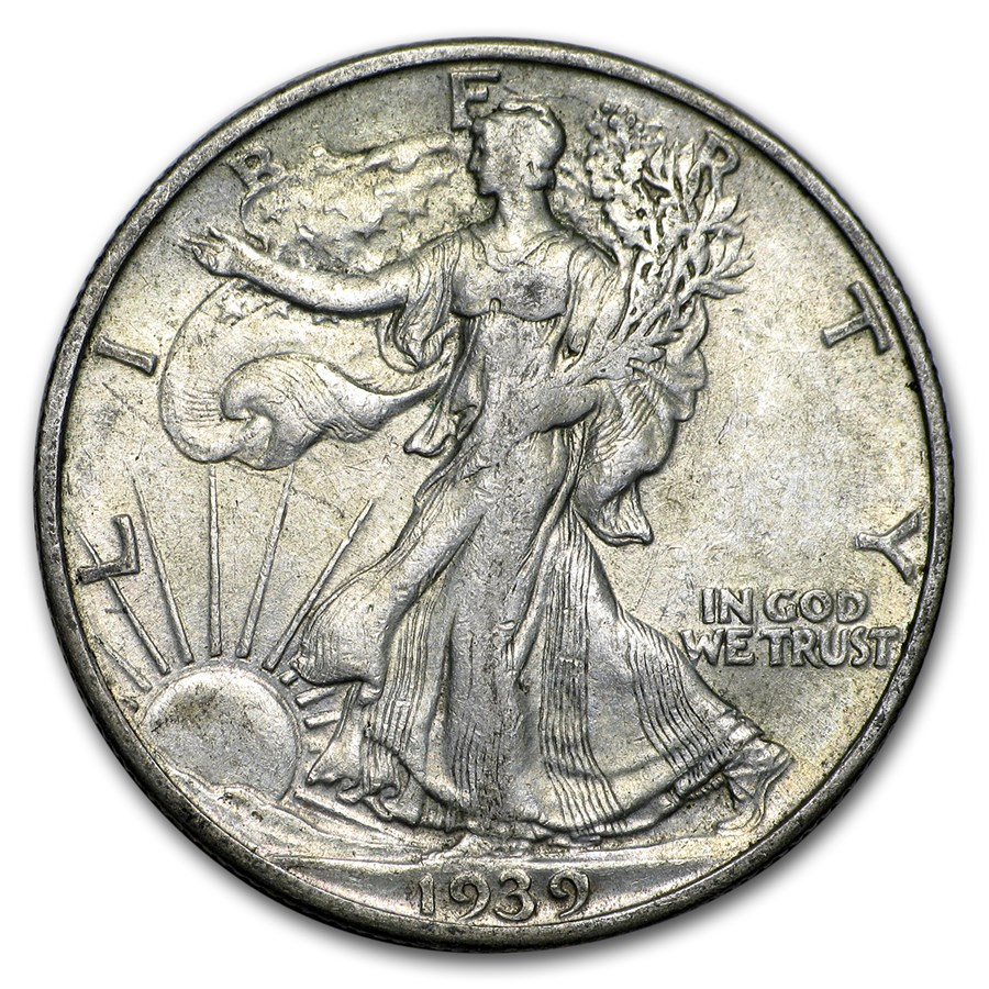 1939-S Walking Liberty Half Dollar XF