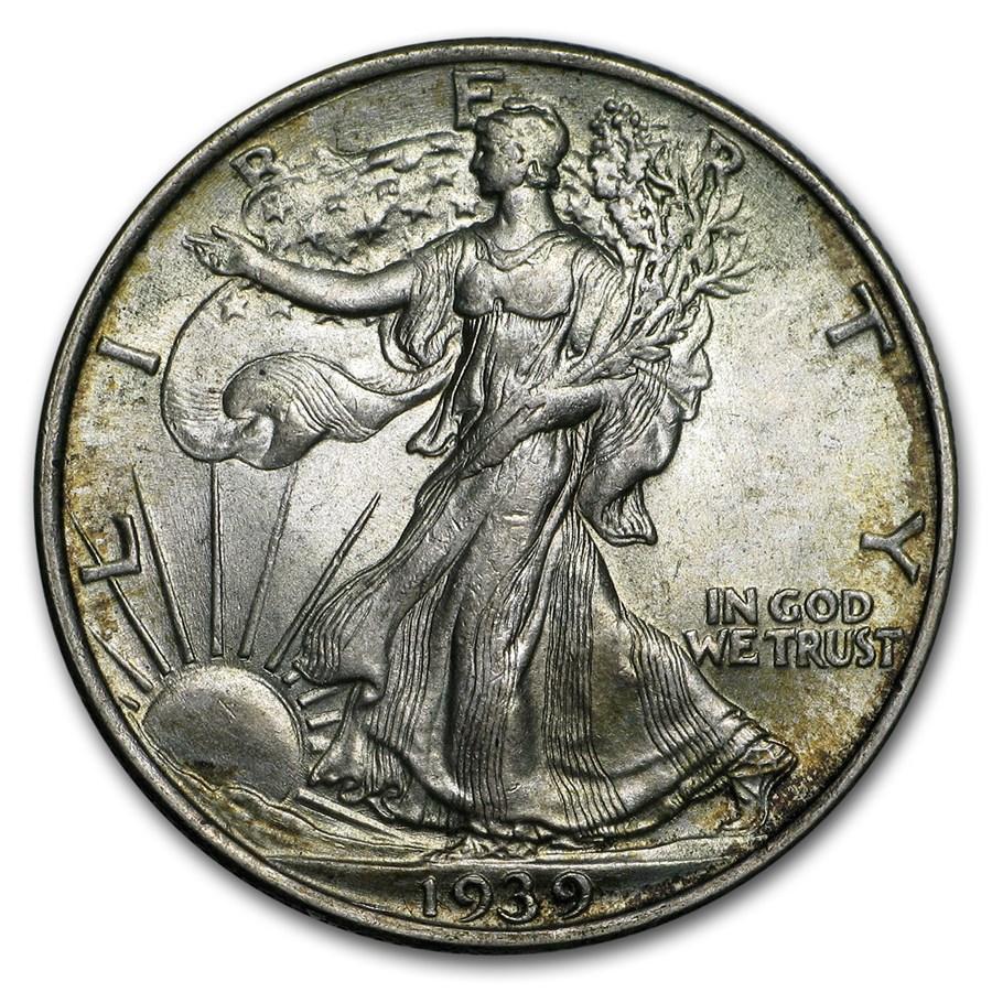1939 Walking Liberty Half Dollar BU