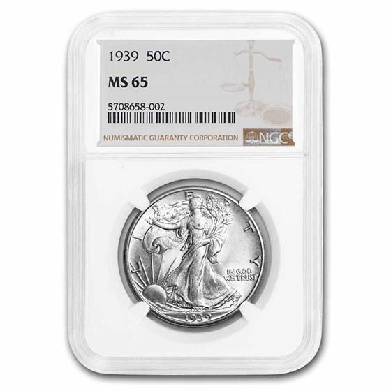 1939 Walking Liberty Half Dollar MS-65 NGC