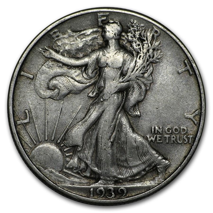1939 Walking Liberty Half Dollar XF