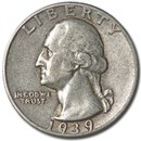 1939 Washington Quarter Good/VF