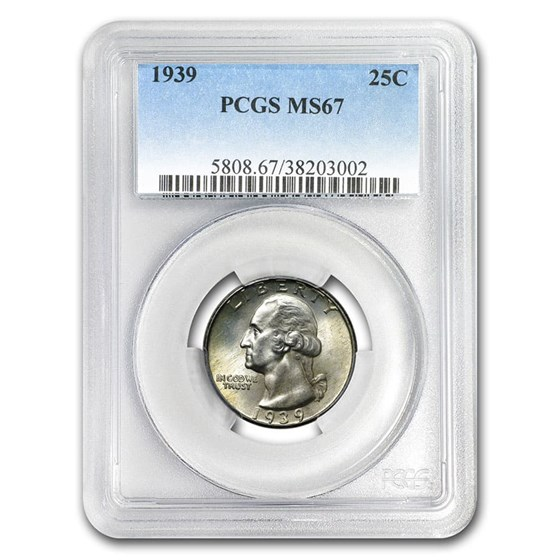 1939 Washington Quarter MS-67 PCGS
