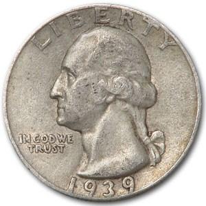1939 Washington Quarter XF