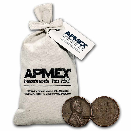 1940-1958 Wheat Cent 1,000 Count Bags Avg Circ