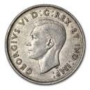 1940 Canada Silver 50 Cents George VI XF