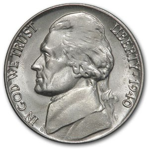 1940-D Jefferson Nickel BU