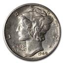 1940-D Mercury Dime AU
