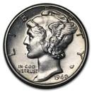 1940-D Mercury Dime BU
