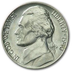 1940 Jefferson Nickel BU