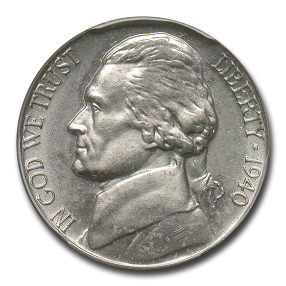 1940 Jefferson Nickel PR-64 PCGS (Reverse of 1938)
