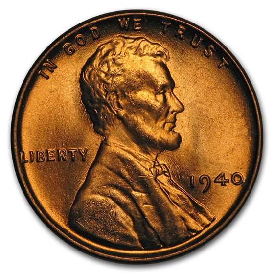 1940 Lincoln Cent BU (Red/Brown)