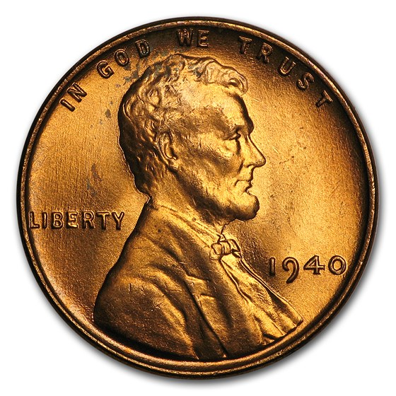 1940 Lincoln Cent BU (Red)