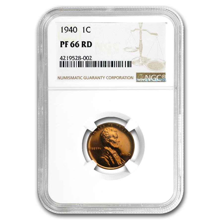 1940 Lincoln Cent PR-66 NGC (Red)