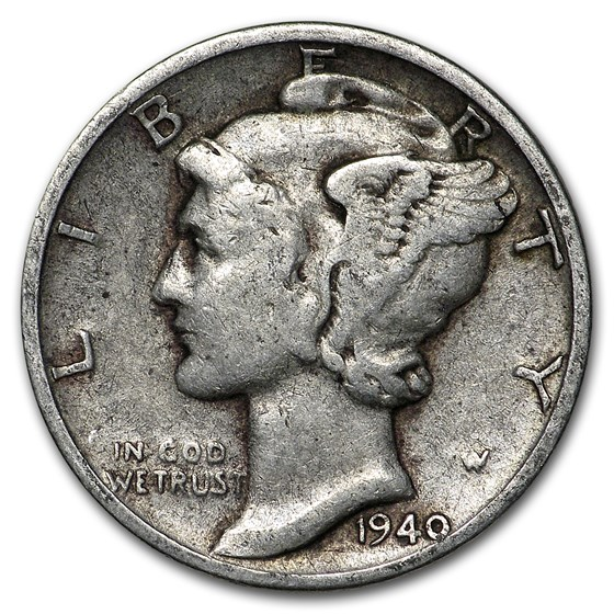 1940 Mercury Dime Good/VF