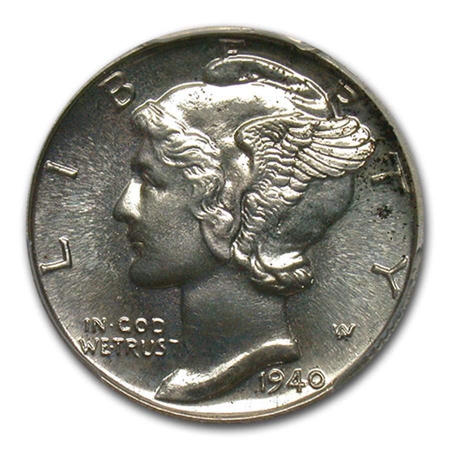 1940 Mercury Dime PR-66 PCGS