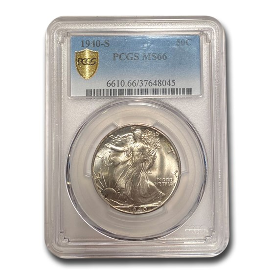1940-S Walking Liberty Half Dollar MS-66 PCGS