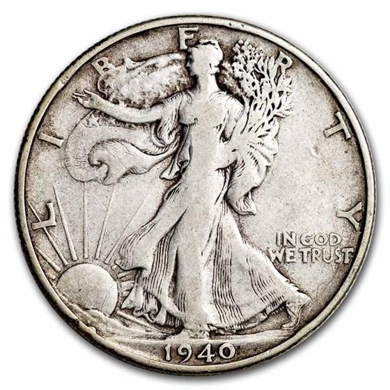 1940-S Walking Liberty Half Dollar VG/VF