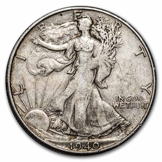 1940-S Walking Liberty Half Dollar XF