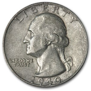 1940-S Washington Quarter XF