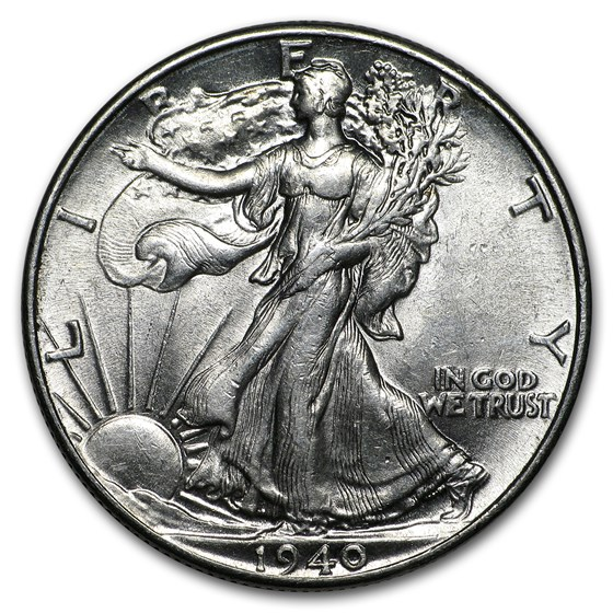 1940 Walking Liberty Half Dollar AU