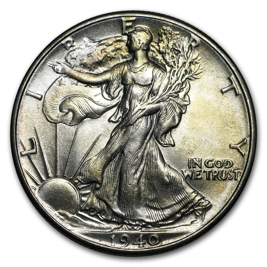 1940 Walking Liberty Half Dollar BU