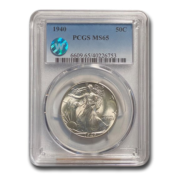 1940 Walking Liberty Half Dollar MS-65 PCGS