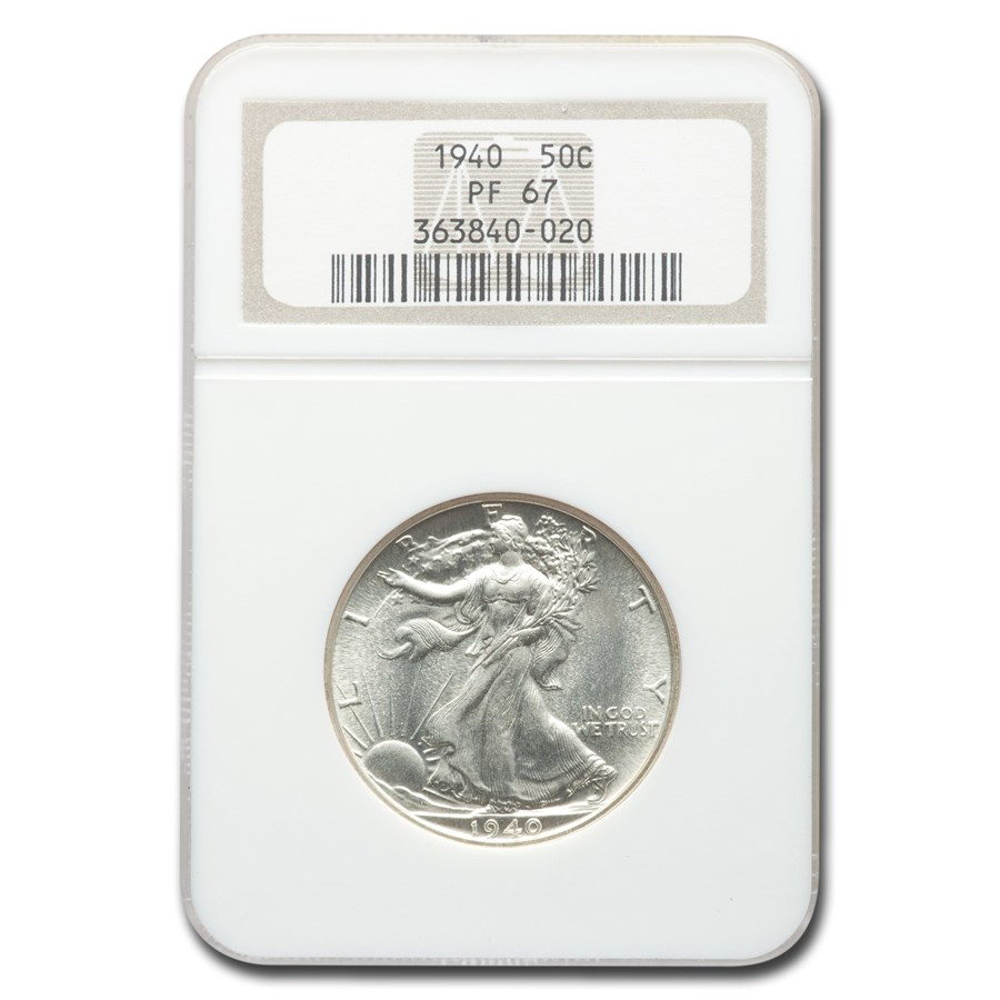 1940 Walking Liberty Half Dollar PF-67 NGC