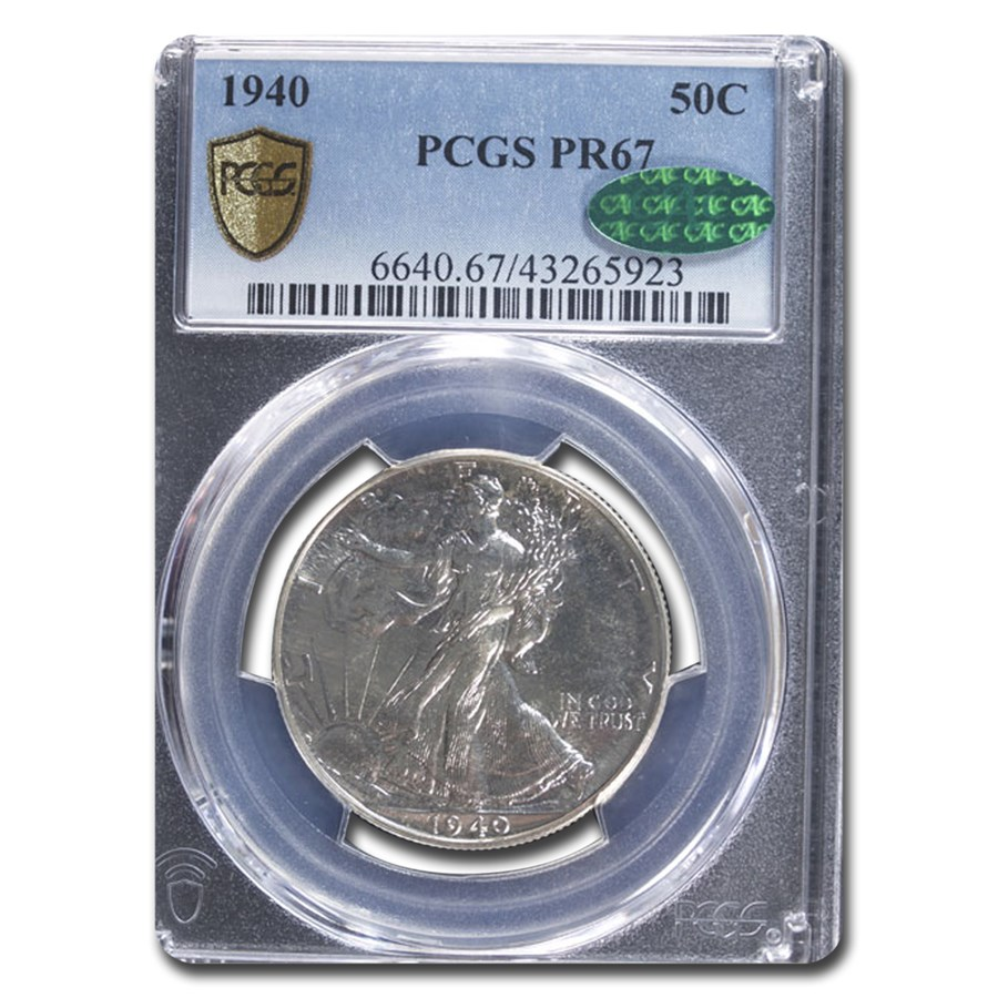 1940 Walking Liberty Half Dollar PR-67 PCGS CAC