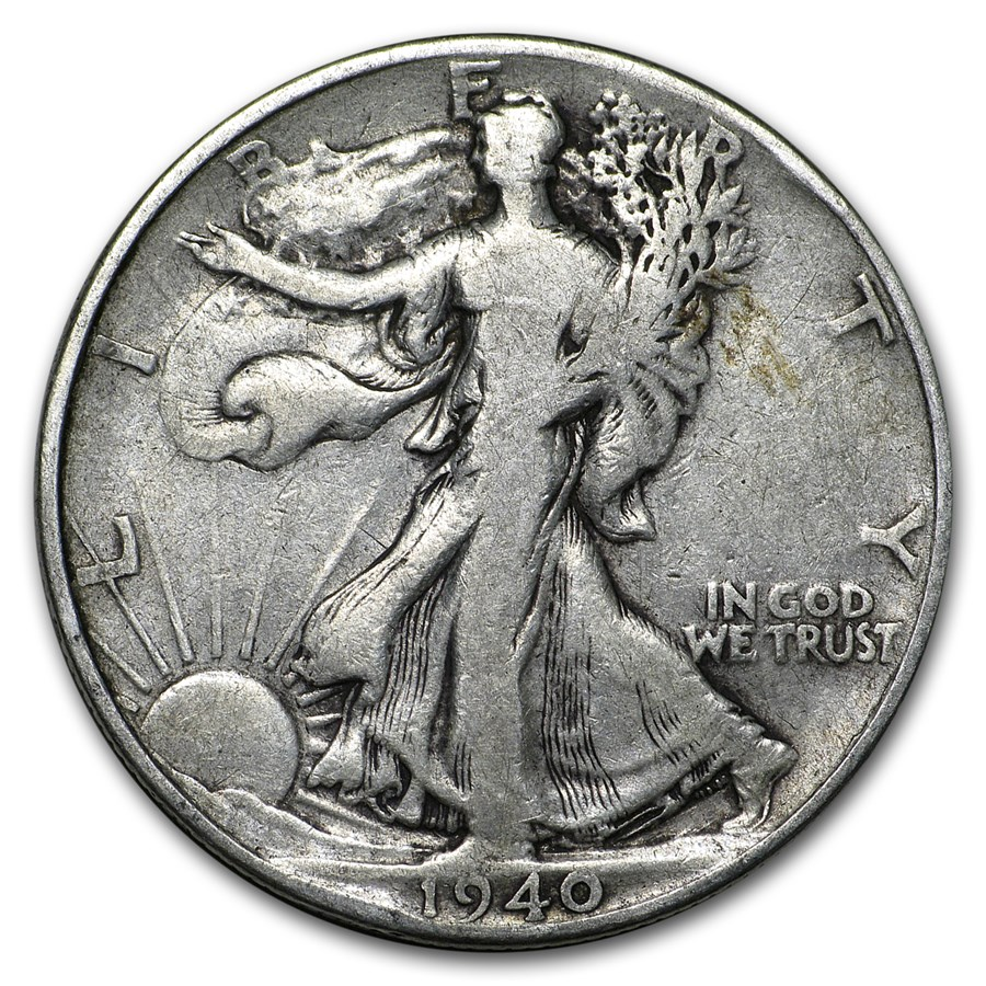 1940 Walking Liberty Half Dollar VG/VF
